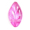 Glass Bead Leaf 11x7mm 2 Tone Pink Strung